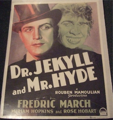 Image for Dr Jekyll and Mr Hyde, Movie Poster, Starring Fredric March, a Rouben Mamoulian Production