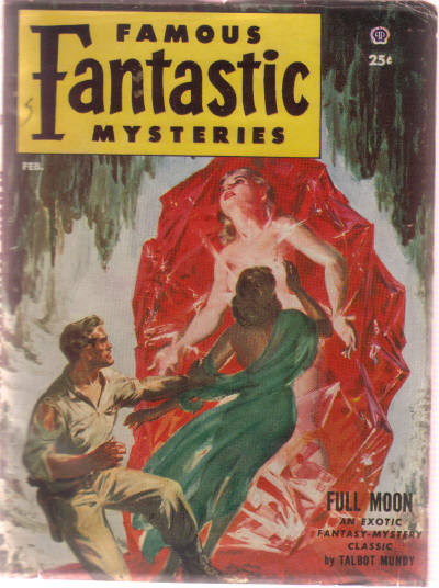 Image for Famous Fantastic Mysteries, Pulp February 1953, Volume 14, # 2 ( Full Moon; The Eyes of Dromu; Ekrerar of Palorae )