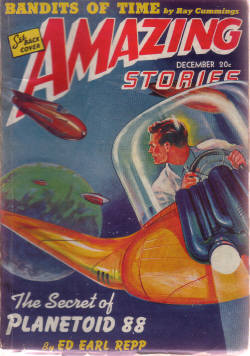 Image for Amazing Stories Science Fiction Pulp Magazine, Volume 15, # 12, December 1941 ( Secret of Planetoid 88; Bandits of Time; Rayhouse in Space; The Odds on Sergeant Shane; Planet of Lost Men; The Man Who Wasn't Himself  )