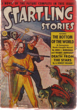 Image for Startling Stories Pulp Magazine, Volume 6 # 2, September 1941 ( The Bottom of the World By John Coleman & Hulbert Burroughs; Prisoners in Flatland By Frank Belknap Long; Death from the Stars By A Rowley Hilliard; No Heroes Wanted By Robert Moore Williams)