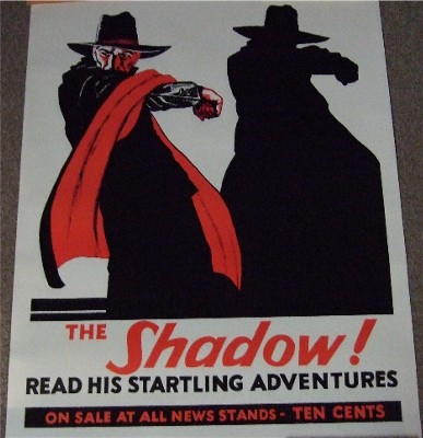Image for The Shadow ---an Advertising Poster ( Maxwell Grant / Walter B Gibson related)