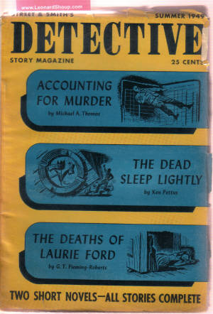 Image for Street & Smith's Detective Story Magazine, Summer 1949, Volume 177, # 1 ( It Shouldn't Happen to a Stiff; Accounting for Murder; Case of the Mad Concerto; The Dead Sleep Lightly; The Deaths of Laurie Ford; Behind the Words; The Dead Walk; A Star Falls )