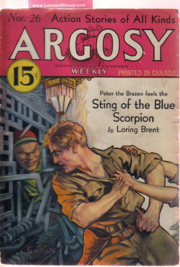 Image for Argosy Weekly Pulp Magazine, Volume 234, # 2, November 26. 1932 ( Time to Quit; White Collar Logger; Wood Fire Alibi; Men of Daring; Sting of the Blue Scorpion; Crocodile; Burn Witch Burn; Sunken Dollars; Women Duelists; Depression Prices; Ex-M P )