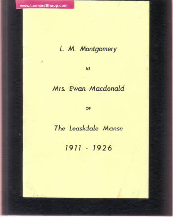 Image for L M Montgomery as Mrs Ewan Macdonald of the Leaksdale Manse 1911 - 1926 ( Lucy Maud ) ( Ontario )