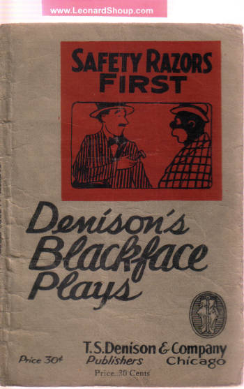 Image for Safety Razors First:  A Blackface Act --- Denison's Blackface ( Minstrel ) Plays