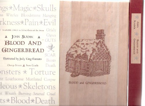 Image for Blood and Gingerbread ---by John Sladek ---a Signed Copy ---with the Original CHEAP STREET Prospectus ( housed in a clamshell Slipcase / boxed )(a Telling of the Hansel and Gretel Story )