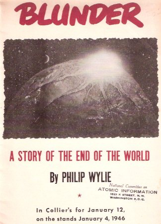 Image for Blunder:  A Story of the End of the World ---by Philip Wylie --- in Collier's for January 12, on the Stands Jan. 4, 1946