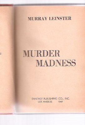 Image for Murder Madness ---by Murray Leinster