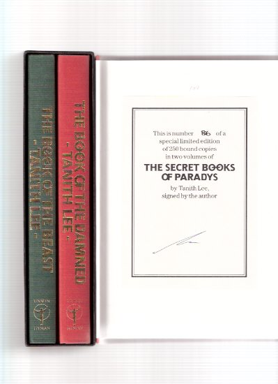 Image for The Book of the Beast ---with The Book of the Damned --- Book 1 and 2 -The Secret Books of Paradys  ---by Tanith Lee -a Signed Set in Slipcase ( Paradise )