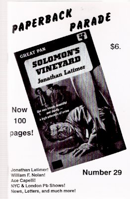 Image for Paperback Parade # 29 (includes:  An Interview with William F Nolan; Nolan Bibliography; Jonathan Latimer Paperback Checklist; etc)