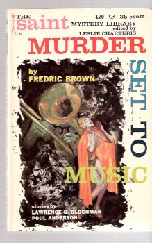 Image for Murder Set to Music ----by Fredric Brown -in The Saint Mystery Library # 3 (with:  Corpse in a Suit of Armor; Pill Roller; Open All Night; The Eleven Diplomats )