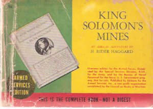 Image for King Solomon's Mines -an african Adventure ---by H Rider Haggard ( Armed Services Edition / ASE # 795 )