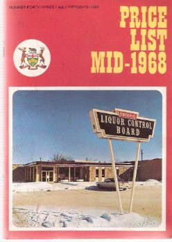 Image for Price List # 43 Mid-1968 - LCBO - Liquor Control Board of Ontario ( L C B O )( Number Forty-Three, July 15th 1968 )