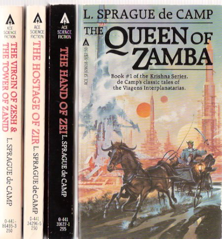 Image for Krishna Series:  Queen of Zamba ---with Hand of Zei ---with Hostage of Zir ---with Virgin of Zesh and The Tower of Zanid ---book 1, 2, 3 and 4 ---4 Volumes ---by L Sprague de Camp