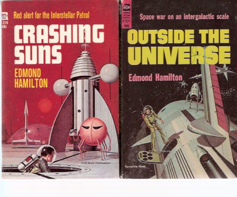 Image for Interplanetary Patrol:  Outside the Universe ---with Crashing Suns ---by Edmond Hamilton