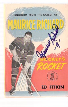 Image for Highlights from the Career of Maurice Richard - Hockey's Rocket - Signed By Maurice Richard ( Montreal Canadiens / NHL / National Hockey League related)