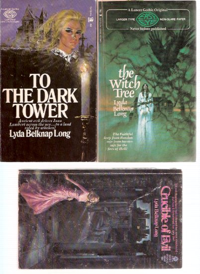 Image for To the Dark Tower ---with The Witch Tree ---with Crucible of Evil -by Lyda Belknap Long ( aka Frank Belknap Long ) --3 Volumes - Gothic Romances