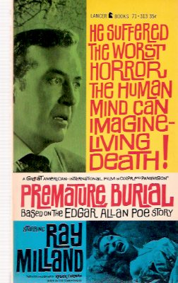 Image for Premature Burial --- Movie Tie in Edition for the Roger Corman Movie Starring Ray Milland