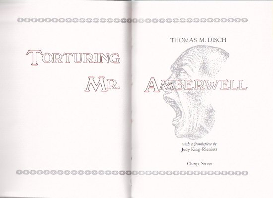 Image for Torturing Mr Amberwell ---by Thomas M Disch - Signed copy