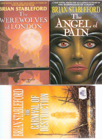Image for David Lydyard Trilogy:  Werewolves of London ---with The Angel of Pain ---with The Carnival of Destruction ---books 1, 2 $ 3 -by Brian Stableford  ---Three Volumes