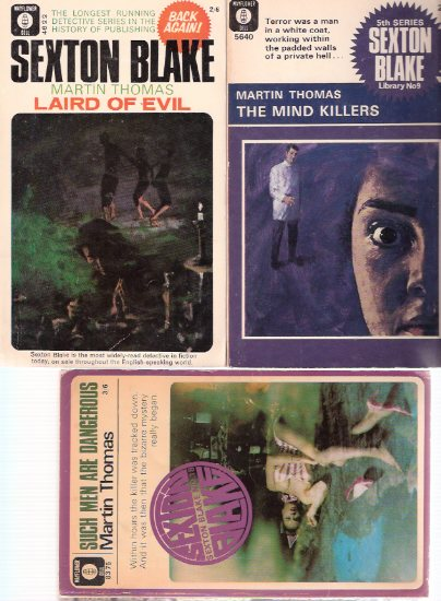 Image for Such Men are Dangerous ---with The Mind Killers ---with  Laird of Evil  --- Sexton Blake series ---3 Volumes