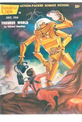 Image for Imaginative Tales, July 1956 ( Thunder World; Field Trip; Man Without a Planet; space Traveler's Revenge; Flight of the Ark II; Jason and the Maker )