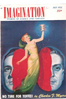 Image for Imagination: Stories of Science and Fantasy, July 1952, Volume 3, # 4 ( No Time for Toffee, Reluctant Hero, This World is Ours, Mischievous Typesetter,  So Many Worlds Away)(SF / Fiction Digest )