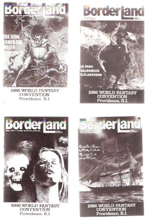 Image for BorderLand Dark Fantasy Magazine, Promotional Giveaways for the 1986 World Fantasy Convention in Providence Rhode Island --- FOUR Booklet NoteBooks  ( Border Land )( Volume 1, 2, 3, 4 covers)