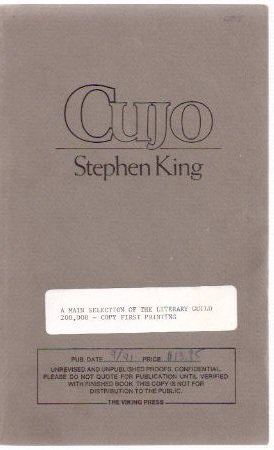 Image for CUJO  -by Stephen King ( Unrevised and Unpublished proof copy )
