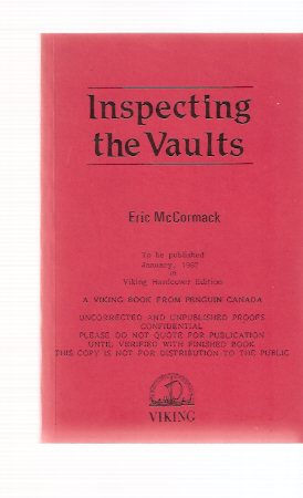 Image for Inspecting the Vaults ---a Signed Copy  of the Uncorrected Proof