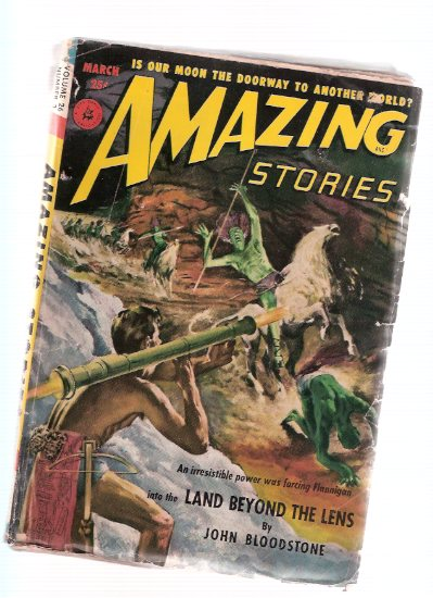 Image for Amazing Stories Science Fiction Pulp Magazine, Volume 26, # 3, March 1952 ( Land Beyond the Lens; The Gray Legions; Throwback; Queen of the Floating Island; Strange Blood )