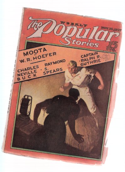 Image for Weekly Popular Stories Pulp:  Street and Smith ( Moota; What Walks Beside Me; The Milksop; Careless Ranger; Cheating of Ching Wo; Lucky Dog; Fool's Paradise; Enter November; Potiphar Puts Out )