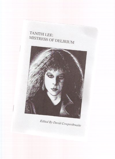 Image for TANITH LEE:  Mistress of Delirium / British Fantasy Society Special Booklet # 18 ( includes a Bibliography )