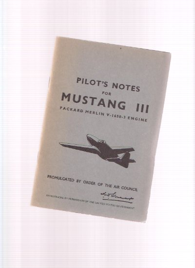 Image for Pilot's Notes:  MUSTANG III, Packard Merlin V-1650-3 Engine