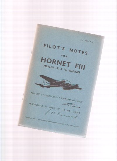 Image for Pilot's Notes: Hornet FIII, Merlin 130 and 131 Engines