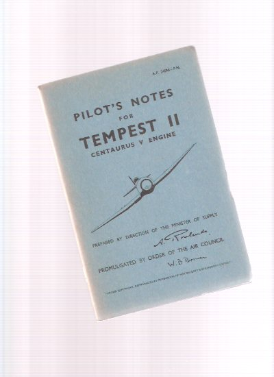 Image for Pilot's Notes: Tempest II, Centaurus V Engine
