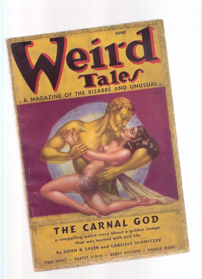 Image for Weird Tales, June 1937, Volume 29, # 6 ( Carnal God; Ragnarok; clicking Red Heels; Black Kiss; Last Pharaoh; Hymn to Beauty; Life Eater; Return to Earth; Death Isa Woman; telegraphy and Telepathy; Murder Mask; Ocean Leech )