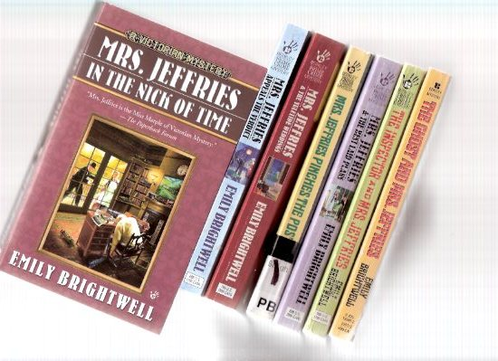 Image for Mrs Jeffries Pinches the Post ---with -and the Best Laid Plans ---with The Inspector and  ---with Ghost and ---with Nick of Time ---with Appeals the Verdict ---with Yuletide Weddings ---7 Volumes of - Victorian Mystery  ---by Emily Brightwell