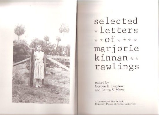 Image for Selected Letters of Marjorie Kinnan Rawlings
