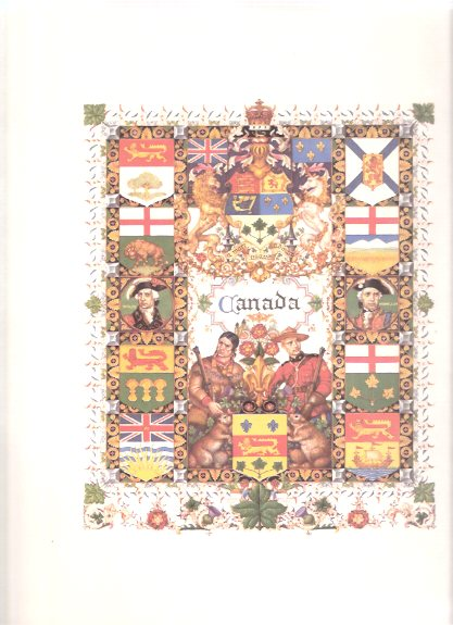 Image for United Nations Series / Portfolio - CANADA ---by Arthur Szyk  ( Title Page for The Dominion of Canada )