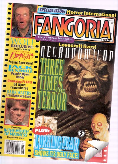 Image for Fangoria Magazine, August 1994, # 135 (includes:  The Lurking Fear /and/ Necronomicon )