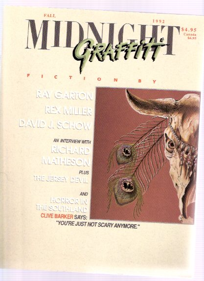 Image for Midnight Graffiti, Fall 1992, # 7 (includes: Richard Matheson Interviewed By Paul Sammon; etc)