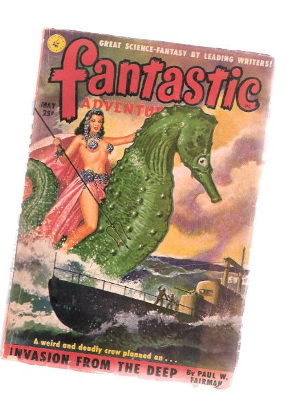Image for Fantastic Adventures Pulp, May 1951, Volume 13, # 5 (  Invasion from the Deep; Make Room for Me; As Others See Us; Fix Me Something to Eat; The Eye of Tandyla, etc)
