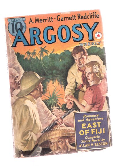 Image for Argosy Pulp, July 1, 1939, Volume 291, # 4 ( East of Fiji; Seven Footprints Satan; Rifle of Feroz Khan; Last Pigtail; Man from Madrid; Island that Died; Men of Daring - Jackie Cochran, Queen of the Air; Thunderbolt; Voyage to Leandro; Goal of Timberlost )