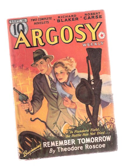 Image for Argosy Pulp, Sept.20  1939, Volume 290, # 4 ( Remember Tomorrow; Senior Sleight of Hand; Nightingale at Second; Men of Daring - Zane Grey / Thomas Howell; River Rogues; Legends of the Legionaries; Storm Over Claybank; Dutch Courage; Hurricane Range; etc )
