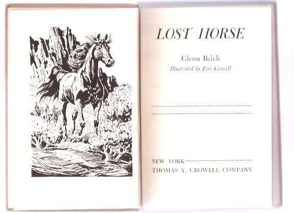 Image for Lost Horse -by Glenn Balch --a signed Copy