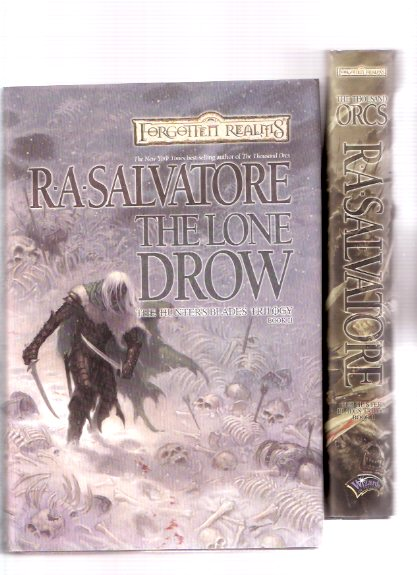 Image for The Hunter's Blade Trilogy:  The Thousand Orcs ---with The Lone Drow ---Book 1 and 2 of the Trilogy ---TWO VOLUMES:  Forgotten Realms  ( Drizzt Do'Urden )