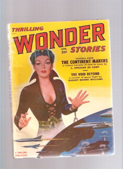 Image for Thrilling Wonder Stories Pulp, April 1951, Volume  38, # 1 ( Continent Makers; the Void Beyond; Milord's Methuselah; The Replaced; Overtime; I'm a Stranger Myself; The First Long Journey; Deception )