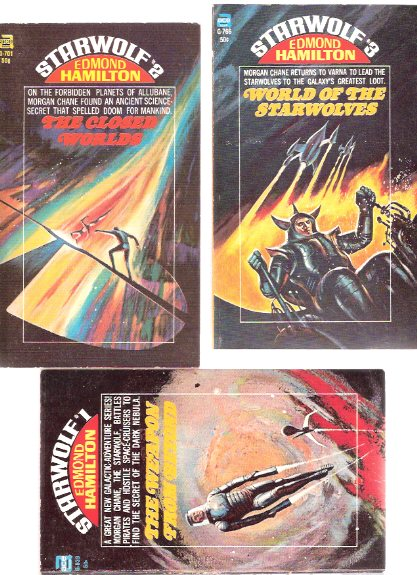 Image for Starwolf Trilogy:  The Weapon from Beyond ---with The Closed Worlds ---with World of the Starwolves ---3 Volumes ---book 1, 2 and 3 ---by Edmond Hamilton