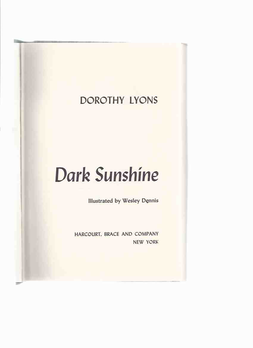 Image for Dark Sunshine ---by Dorothy Lyons